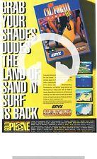 (-0 -) JEU D'ARCADE RARE PUB Amiga California Games 30 cm x 21 cm