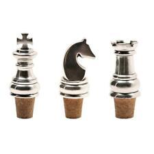 More details for authentic models chess bottle stopper set aluminim (ba006)