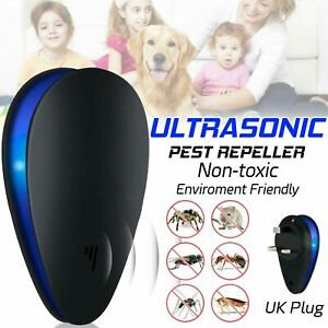 Ultrasonic Electronic Pest Reject Repeller Anti Mosquito Bug Insect Killer UK