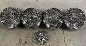 4 Vintage American Racing  Wire Basket Wheels 14x6  4 lug Ford Pinto Mustang