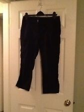 Chicos Size  1 / size 10 Black Cargo Pants