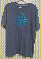 Nike Mens XL 1X Big League Swag Short Sleeve Gray T Shirt