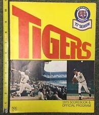 1975 DETROIT TIGERS 75TH SEASON SCORE-BOOK PROGRAM *SCORED* VS OAKLAND 91817