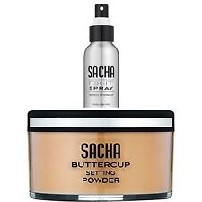 SACHA Buttercup Setting Powder And Setting Spray Combo Perfect Flawless Finish