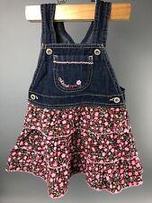 Oshkosh B'gosh 24 Month Vestbak Tiered Dress Floral VINTAGE Brown Pink Jumper