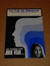 Julie Felix 1971 Free Trade Hall Handbill (Danny Thompson)