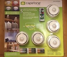 1 Set Of Capstone 5 LED Puck Lights With Remote Control - Batteries Included