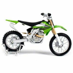 GREEN KAWASAKI MOTORCYCLE KX250F DIECAST 1:18 MOTORCROSS DIRT BIKE UNIT LKI FOX
