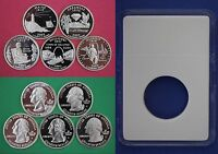 5 Silver 2002 S Proof State Quarters With 5 DIY Slabs DCAM Combined Shipping