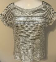 Lucky Brand Gray Short Sleeve Sweater Top Size XS