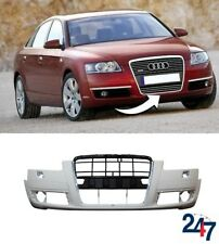 NEW AUDI A6 C6 2005 - 2008 FRONT BUMPER WITH HEADLIGHT WASHER HOLES