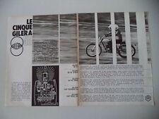 advertising Pubblicità 1972 MOTO GILERA 50 4V/5V TRIAL/7HP TOURING/7HP TRIAL 5V