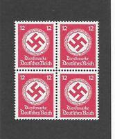 Mint Third Reich symbol WWII Germany  MNH postage stamp BLOCK 1942 Third Reich