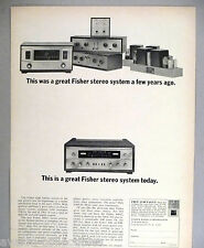 Fisher Stereo System PRINT AD - 1964 ~~ Fisher Radio Corp.