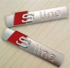 2x LOGO FREGIO STEMMA EMBLEMA AUDI S LINE A2 A1 A3 A4 A5 A6 A7 A8 Q3 Q5 Q7 SLINE