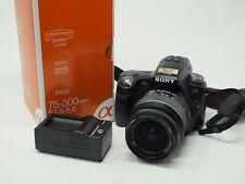 Sony Alpha SLT-A33 14.2MP Digital SLR Camera w/ DT SAM 18-55mm & 75-300mm