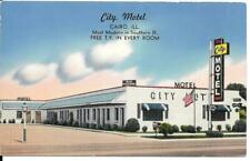Postcard Illinois Cairo City Motel Chrome Unposted AAA