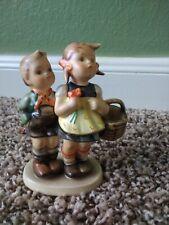 German Goebel Hummel # 49 3/0 To Market figurine boy and girl w basket