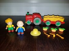 PBS Caillou 11pc Lot Farm Tractor Tools Larry Pumpkins Wagon Calliou EUC
