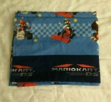 NEW MARIO KART NINTENDO/ROYALE 2 TWIN FLAT SHEET SET RED/BLUE COTTON BLEND