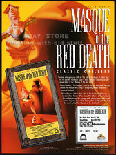 MASQUE OF THE RED DEATH__Orig. 1990 Trade Print AD___PATRICK MACNEE__ADRIAN PAUL