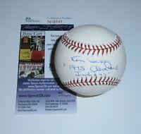 INDIANS Ken Berry signed baseball w/ 1975 Indians AUTO JSA COA Autographed Cleve