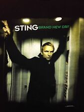 Sting Brand New Day 2000 Tour Black 2-sided Used T-Shirt Concert Rock The Police