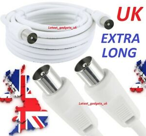 4m Male to Male Extra Long Extension Fly Lead Coaxial Coax TV Aerial Cable