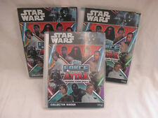 Star Wars Force Attax Trading Card Game 3 x Binders approx 300 Cards Vgc