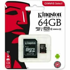 Kingston SDXC 64GB Canvas Micro SD Memory Card 80MB/s UHS-1 Class 10 NEW