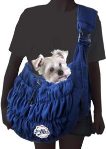 Sided Mesh Sling Pet Carrier Shoulder Strap Removabe Hard Bottom, Lightweight