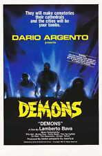DEMONS Movie POSTER 11x17 Urbano Barberini Natasha Hovey Karl Zinny Fiore