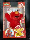 """123 Sesame Street Tickle Me Elmo 14"""" Soft Plush talking, wiggle and giggling Toy"""