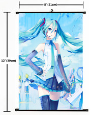 Japanese Anime VOCALOID Hatsune Miku Poster Wall Scroll cosplay 2375
