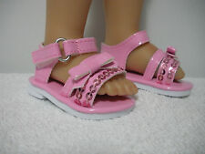"""Fits 18"""" My Life Doll - Walmart  - Pink Sequin Sandals - Shoes - D1659"""