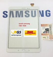 Touch Screen Ricambi Vetro per Samsung Galaxy Tab A 9.7 SM-T550 T551 T555 BIANCO