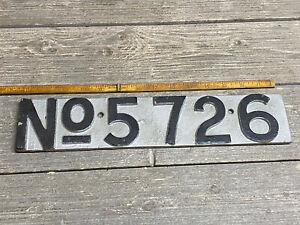 Vintage Cast-Iron House Number Address No. 5726