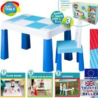 5in1 Multifun Table & Chair Set for Children Kids Activity Play, Water BLUE