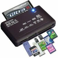ALL IN 1 MULTI MEMORY CARD USB READER SD SDHC MINI MICRO M2 MMC XD CF