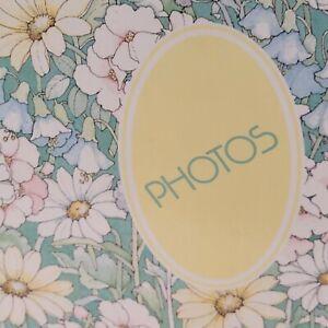 Vintage 1970s Photo Album Magic Magnetic Floral Cottagecore 12 pages 8 x 10