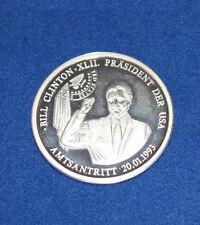 Medaille 999 Silber 1993 Bill Clinton Präsident U.S.A.