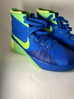 Nike Big Kids Hyperdunk Basketball Shoe Sprite Blue/ Volt Size 7Y 759974 473
