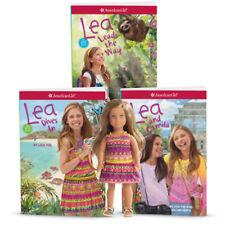 "NEW American Girl Limited Edition Lea 6"" Mini Doll & 3-Book Gift Bundle Set"