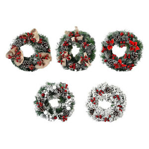Christmas Wreath Front Door Garland Hoop Ornament Gifts for Home Decor