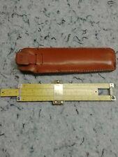 """🔥Pickett & Eckel Model 400 6"""" Pocket Slide Rule Leather Case Vintage free ship"""
