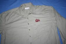 Montana Grizzlies GRIZ 2XT shirt button long sleeve Cutter & Buck tan