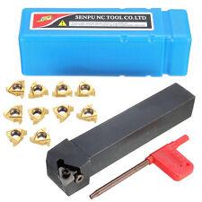 16ER AG60 Blades Inserts + SER2020K16 Lathe Turning Tool Holder Boring Bar X10pc