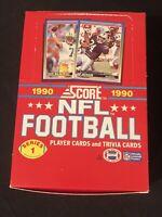 1990 Score Football Series 1 Wax Box 36 New Unopened Packs 16 Cards