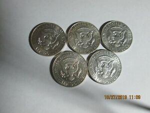 (5)  40% Silver Kennedy Half Dollars UNC