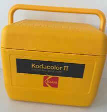 RARE Vtg Kodak Kodacolor 2 Film HARD Cooler Camera Tote Gold w refreeze bottle